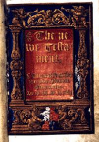 Edição do Novo Testamento de William Tyndale dedicada a Ana Bolena.