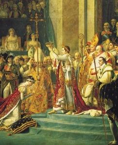 Detalhe da coroação de Napoleão, por Jacques Louis David.