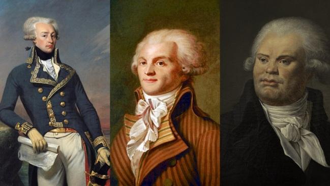 Lafayette, Robespierre e Danton