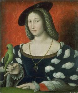 Margarida de Valois, rainha de Navarra (por: Jean Clouet).
