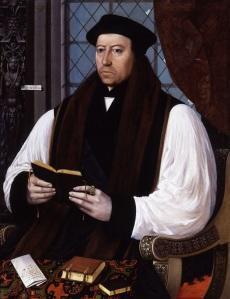 Thomas Cranmer, arcebispo de Canterbury, atribuído a Gerlach Flicke.