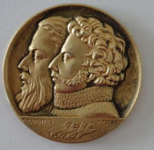 O embate entre República e Monarquia: moeda de 1972 com as efígies de Tiradentes (esquerda) e D. Pedro I (direita).