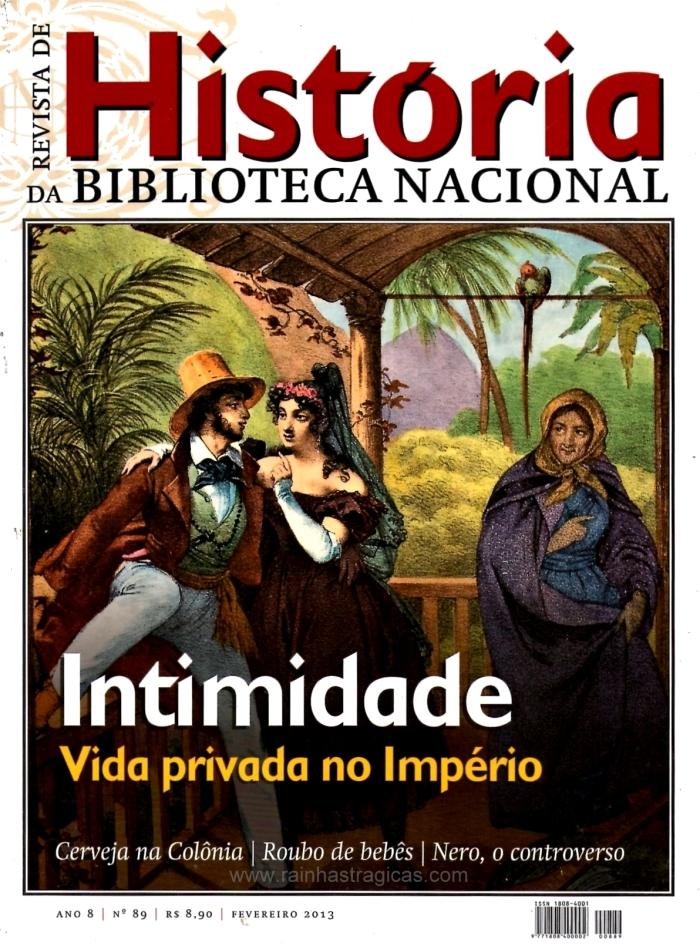 """Capa da edição nº 89 da Revista de História da Biblioteca Nacional (imagem: """"Costumes do Rio de Janeiro"""", por Rugendas)."""