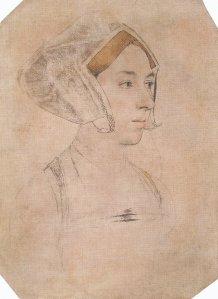 Rascunho de uma mulher, identificada em 1649 como sendo Ana Bolena.