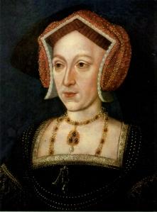 Retrato de Ana Bolena de como ela provavelmente se parecia no tempo de sua queda (final do séc. XVI, por artista desconhecido).