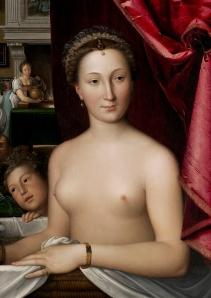 Diana de Poitiers, em nu artístico de François Clouet.