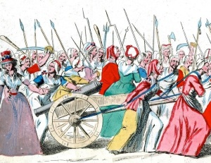 Marcha das mulheres do mercado sobre Versalhes, em 5 de outubro de 1789.