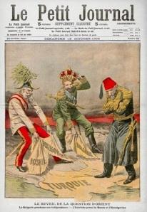 """Capa do jornal francês """"Le Petit"""" trazendo como tema a crise da Bósnia."""