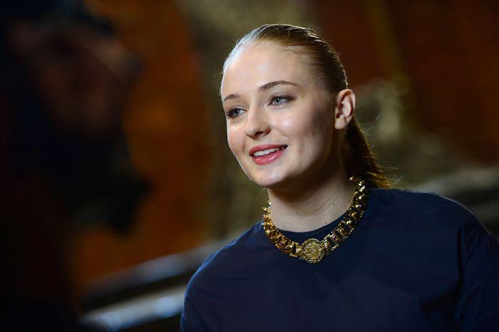 Sophie Tuner, atriz que interpreta Sansa Stark.