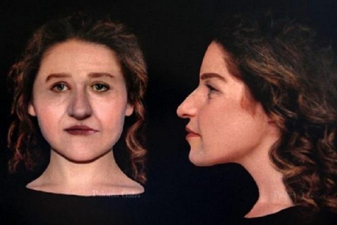 Reconstrução facial de uma mulher entre 25 e 35 anos de idade!