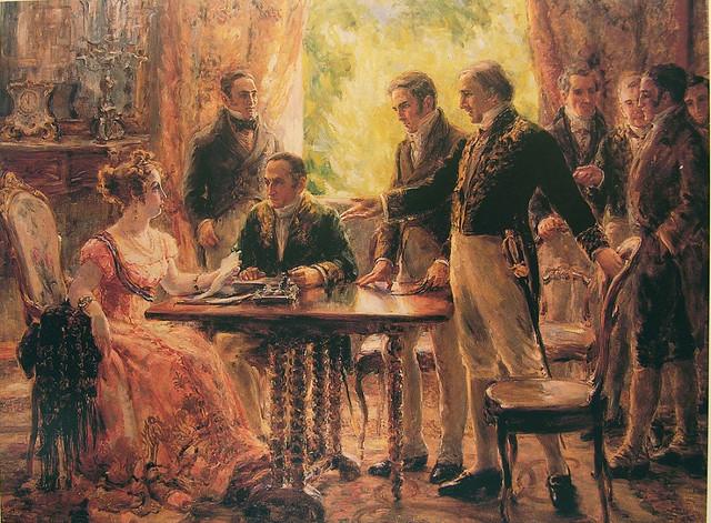 Dona Leopoldina presidindo sessão do Conselho de Estado, por Georgina de Albuquerque.