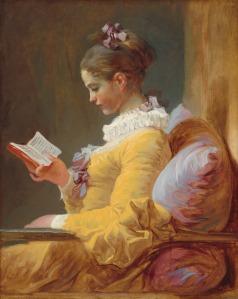 """La lectrice (""""A leitora""""), óleo de Jean-Honoré Fragonard, 1770–1772."""