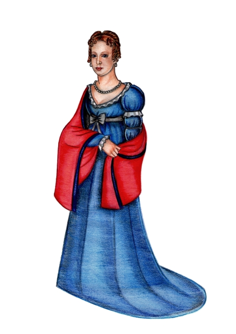 Imperatriz D. Leopoldina (releitura do original feita por Renato Drummond Tapioca Neto).