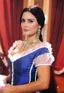 Carla Regina, no papel da personagem Lúcia/ Maria da Glória, na novela