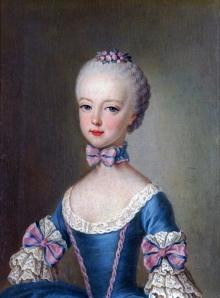 Retrato de Maria Antonieta aos 7 anos de idade, em 1762, por Jean-Étienne Liotard.