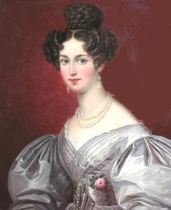 D. Amélia de Leuchtenberg, por artista desconhecido.