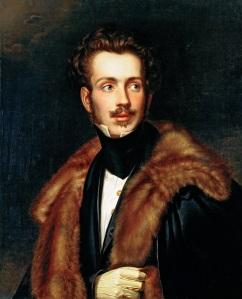 Retrato de D. Augusto, irmão de D. Amélia, por Joseph Karl Stieler (c. 1835).