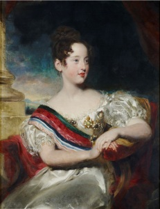 D. Maria II, rainha de Portugal, por Thomas Lawrence (1829).
