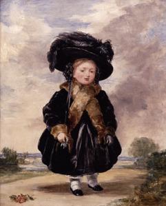 Princesa Vitória aos quatro anos de idade, por Stephen Poyntz Denning.