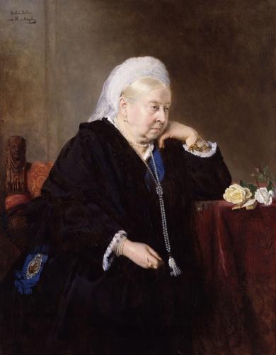 Rainha Vitória à época de seu Jubileu de Diamante, por Bertha Müller.