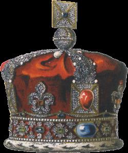 Ilustração da coroa de Vitória, feita por John Martin. A peça existe ainda hoje, embora as pedras tenha sido removidas para adornar a coroa que hoje é usada por outra rainha: Elizabeth II.
