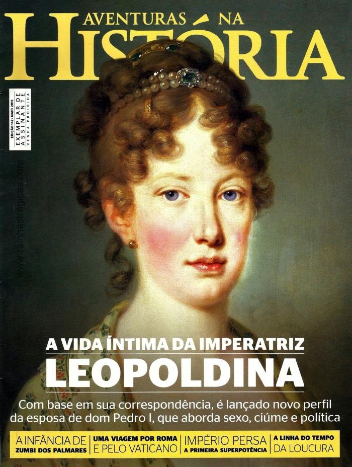Capa da edição n° 142 da revista Aventuras Na História.