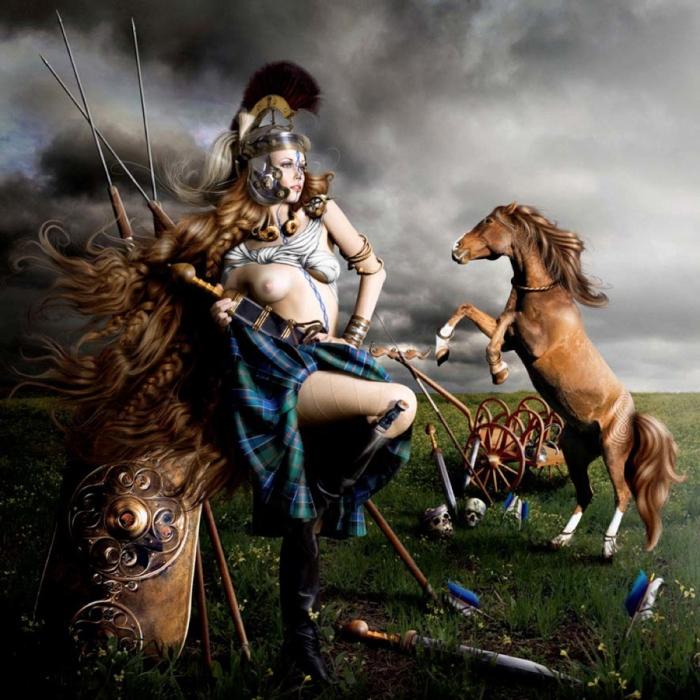 Boudica, a rainha celta.