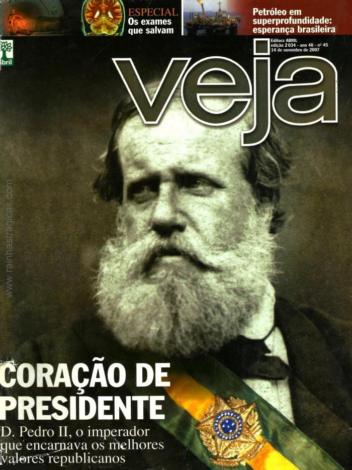 Capa da edição n° 2.034 da revista Veja, publicada em 14 de novembro de 2007.