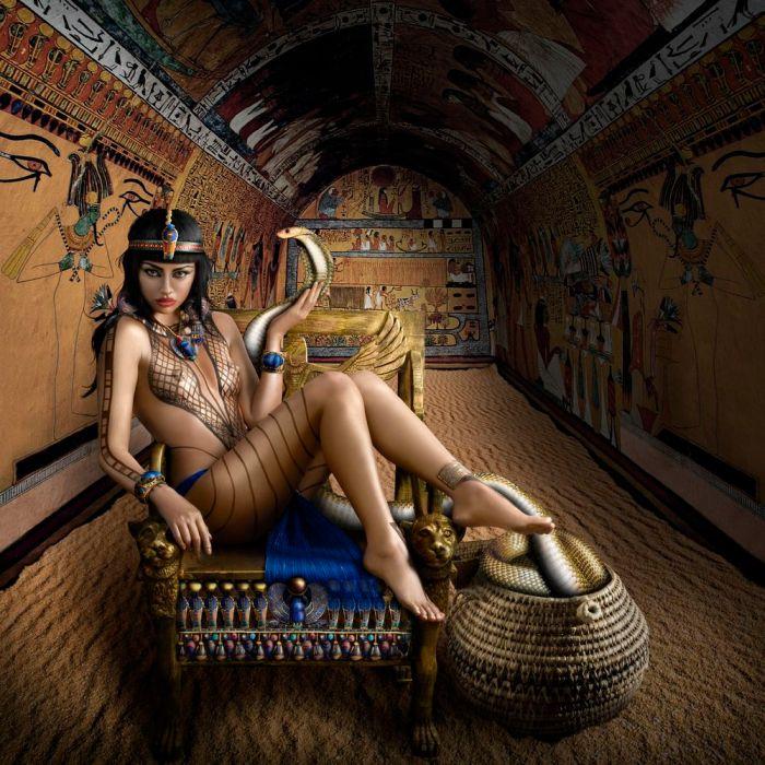 Cleópatra, a sedutora.