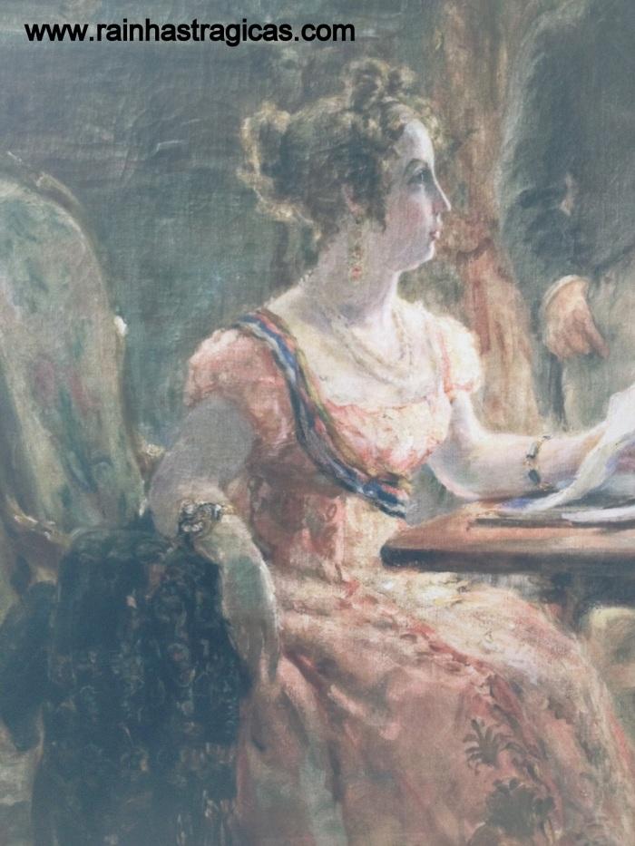 Detalhe da tela de Georgina de Albuquerque, retratando a Imperatriz Leopoldina presidindo uma sessão do Conselho de Estado.