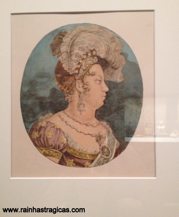 Perfil da Imperatriz Leopoldina, executado por Jean-Baptiste Debret.