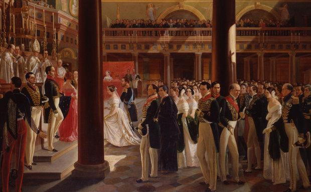 Casamento por procuração da Imperatriz d. Teresa Cristina, por Alexandre Cicarelli, 1846.