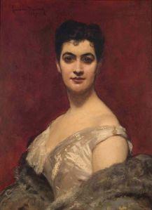 Eufrásia Teixeira Leite, aos 37 anos. Óleo de Lawlis Duray, 1887, França – Museu Casa da Hera.