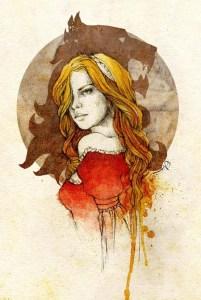 Cersei Lannister, a rainha regente, por Elia Fernández.