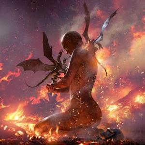 O nascimento dos dragões, por Michael Komarck.
