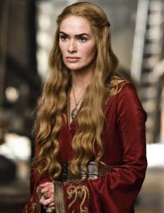 "Lena Headey como Cersei Lannister na segunda temporada de ""Game of Thrones"" (2012)."