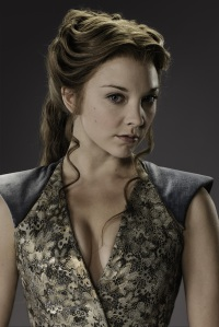 "Natalie Dormer como Margaery Tyrell na terceira temporada de ""Game of Thrones"" (2013)."