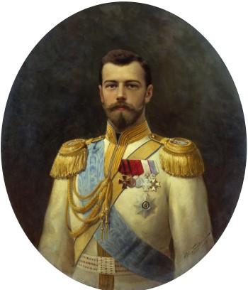 Retrato do último czar da Rússia, Nicolau II, pintado por Ilya Galkin.