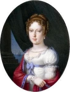 Retrato em miniatura de Dona Leopoldina, enquanto era uma arquiduquesa d'Áustria (artista desconhecido).