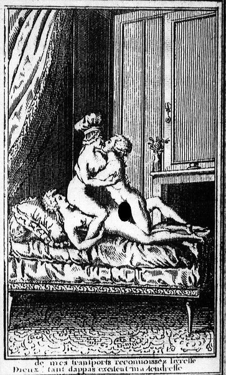Panfleto ponográfico no qual Maria Antonieta protagoniza uma orgia no Palácio de Versalhes.