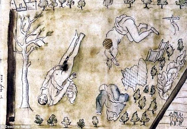 Os corpos seminus de Darnley e seu escudeiros foram encontrados abaixo de um pomar, após a explosão da casa onde o rei passava a noite.