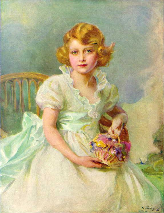 Elizabeth II aos 7 anos de idade, por Philip de László (1933).
