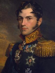 O tio de Vitória, Leopold, rei da bélgica (por: George Dawe).