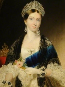 A rainha Vitória, aos 18 anos de idade, por Edmund Thomas Parris.