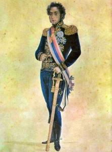 O príncipe D. Pedro aos 18 anos, por Debret (1816).