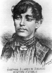 """Josefina Álvares de Azevedo, fundadora do jornal """"A Família""""."""
