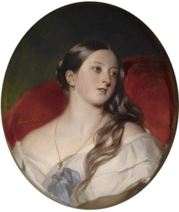A rainha Vitória quando jovem, por Winterhalter (1843).