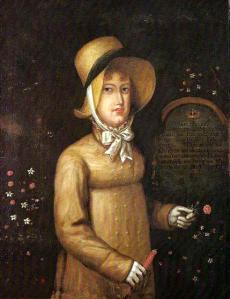 Retrato de D. Leopoldina na Ilha da Madeira, por artista desconhecido.