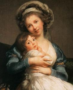 Autorretrato de Élisabeth Vigée Le Brun com sua filha (1787).
