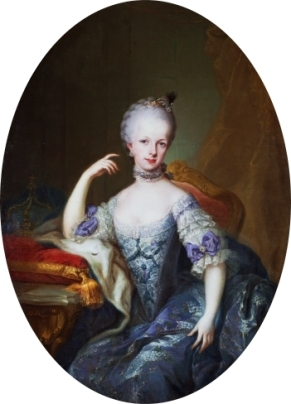 Retrato da arquiduquesa Maria Josefa da Áustria, pintado por Francesco Liani (c. 1767).